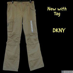 NWT vintage DKNY pant with pocket & zipper details